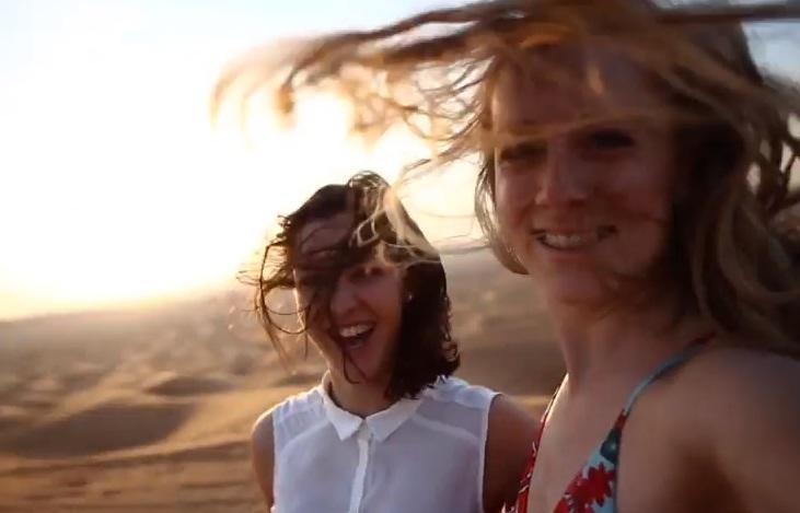 happy in desert