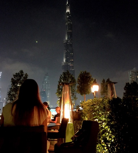Night burj khalifa