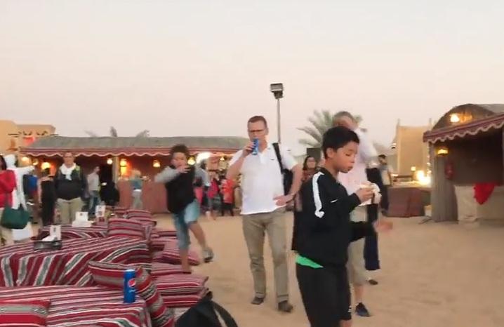 Campsite desert