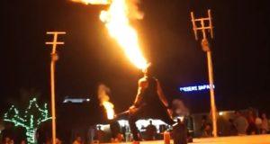 Fire Show Desert Camp