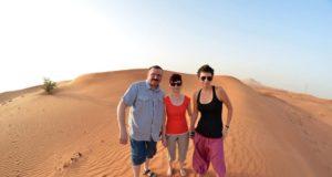 Couples in desert Dubai