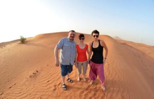 Couples in desert Dubai